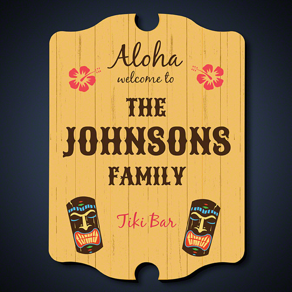 Home Wet Bar Tiki Bar Personalized Sign Wall Décor | Wayfair
