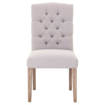 Mcfadden Wooden Framed Upholstered Dining Chair Canora Grey Upholstery Color: Light Gray