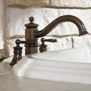 deck mount tub faucet with diverter. Waterhill Double Handle Deck Mount Roman Tub Faucet Trim with Handshower  Built in Hand Shower 4 Hole Bathtub Faucets You ll Love Wayfair