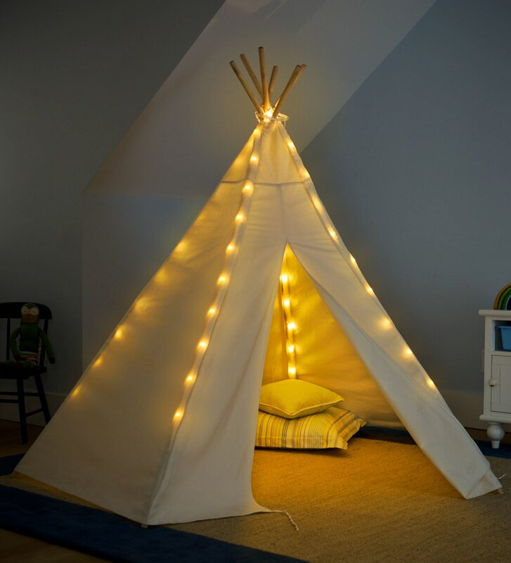 7u0027 Teepee Battery Operated Lights Special Play Tent & HearthSong 7u0027 Teepee Battery Operated Lights Special Play Tent ...