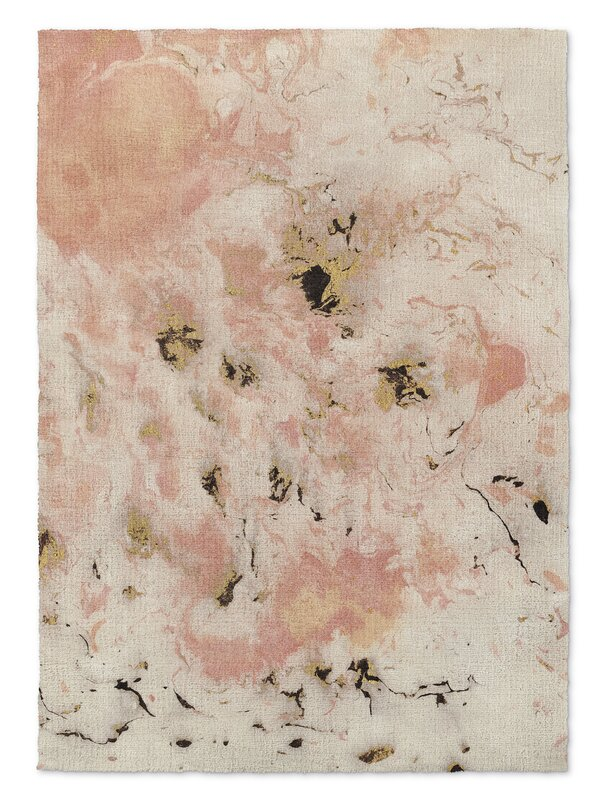 Davin Marbled Pink/Gray Area Rug