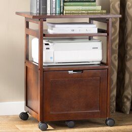 Carts Stands You Ll Love Wayfair Printer Table File Cabinet