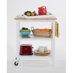Kitchen Cart with Wood Top by Trinity