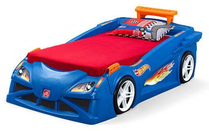 Step2 Hot Wheels Race Twin Car Bed Amp Reviews Wayfair