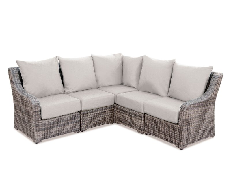 Valentin Patio Sectional With Sunbrella Cushions