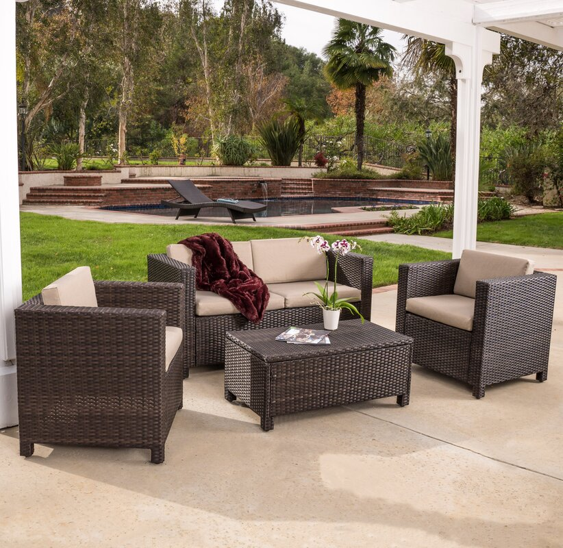 kappa 4 piece seating group with cushion - Garden Furniture 4 U Ltd