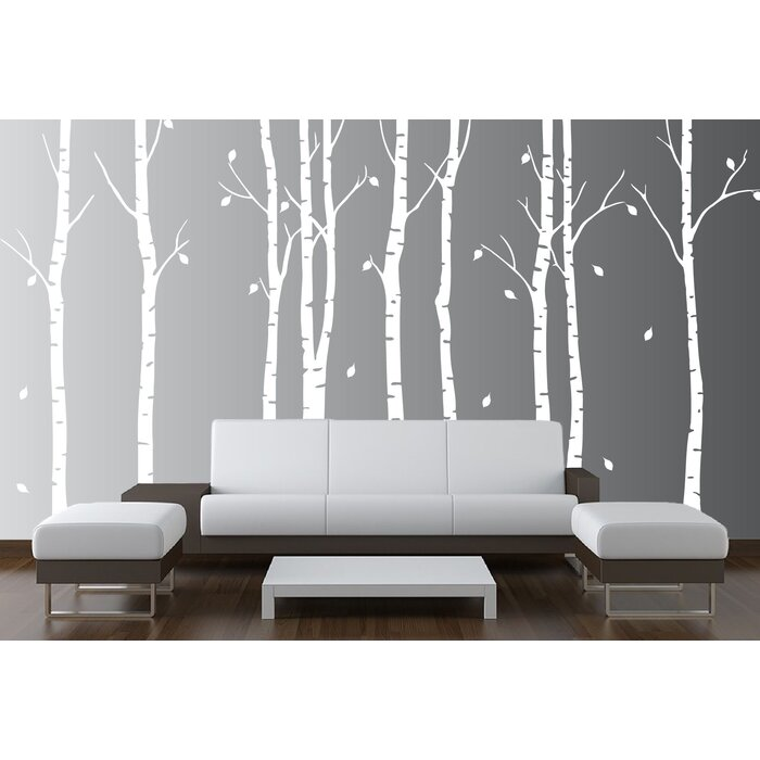 Innovative Stencils Birch Tree Forest Branches Wall Decal & Reviews | Wayfair.ca : decals wall forest - www.pureclipart.com