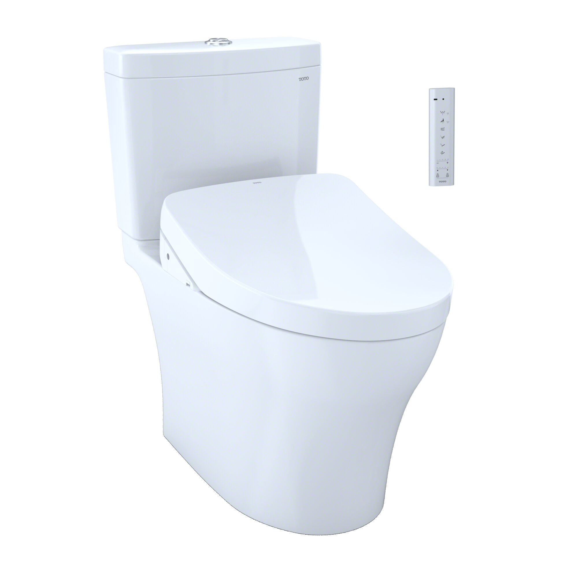 Toto Aquia IV Dual Flush Elongated Two-Piece Toilet with Ewater+ ...