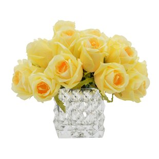 Artificial yellow roses wayfair yellow rose bouquet mightylinksfo