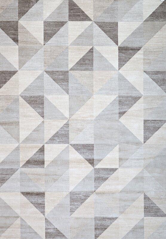 abacasa sonoma grey/white area rug & reviews   wayfair