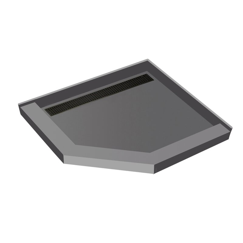 Tile Redi 44 X 44 Neo Angle Triple Threshold Shower Base With