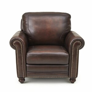 Wilmore Leather Club Chair by Darby Home Co