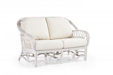Bay Isle Home Strachan Loveseat Upholstery: Bamboozel Plantain, Finish: White