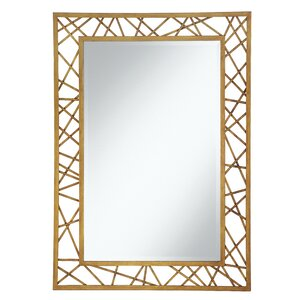 Brice Rectangle Geometric Accent Wall Mirror