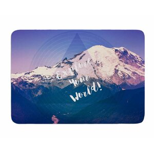 Explore Your World! by Robin Dickinson Memory Foam Bath Mat