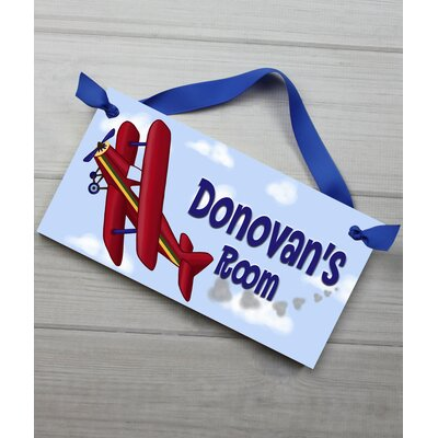 Toad and Lily Airplane Personalized Bedroom Door Sign | Wayfair