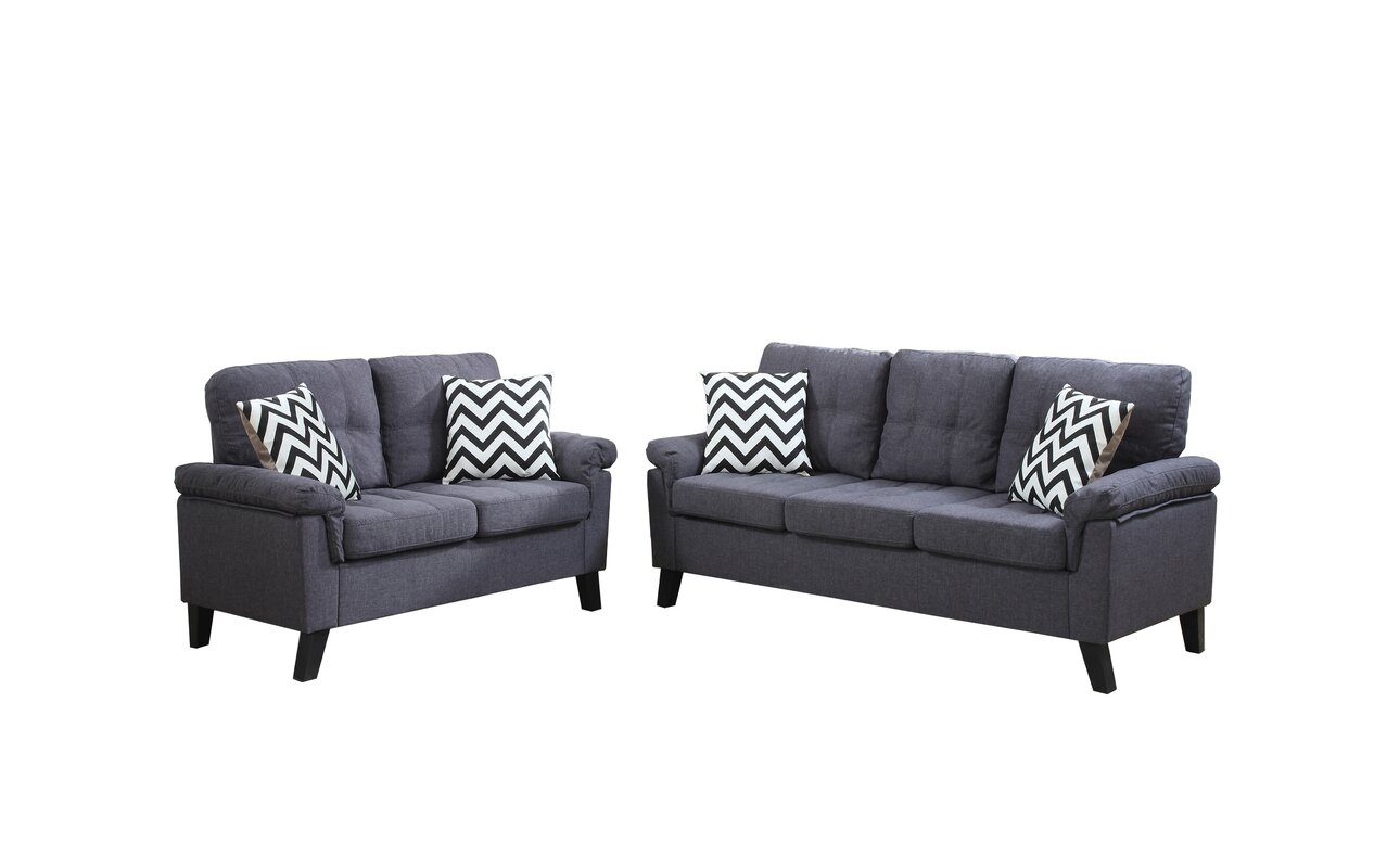 Zipcode Design Carli 2 Piece Living Room Set & Reviews   Wayfair