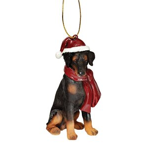 Doberman Holiday Dog Ornament