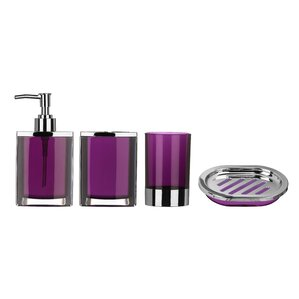 cristallo 4 piece bathroom accessory set