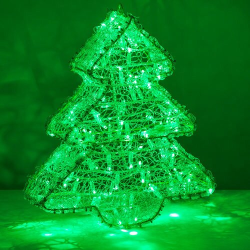 dimensional christmas tree lighted display
