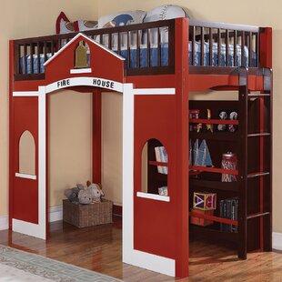 Hannah Loft Bed With Bookshelf