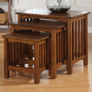 Oakcrest 3 Piece Nesting Tables by Charlton Home