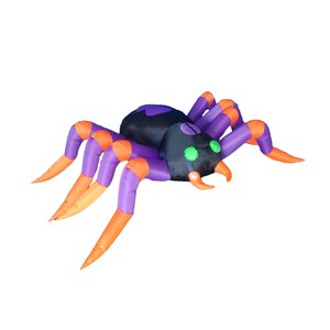 8 Foot Long Halloween Inflatable Spider Decoration