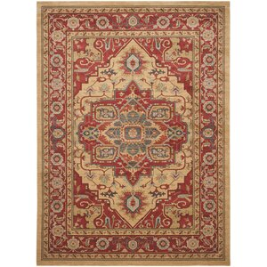 Clarion Red Area Rug