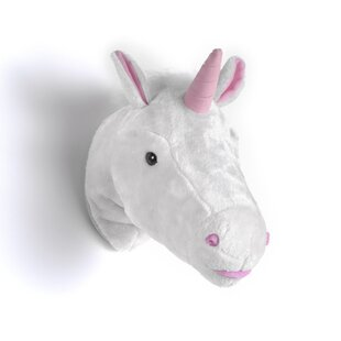 Plush Unicorn Animal Head 3D Wall Décor by Vipack