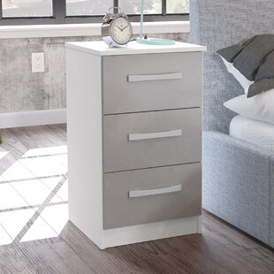 Grey high gloss bedside table wayfair macy 3 drawer bedside table watchthetrailerfo