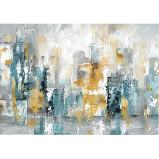 d296ddffe46  City Views II  Painting Print on Wrapped Canvas. by Ebern Designs