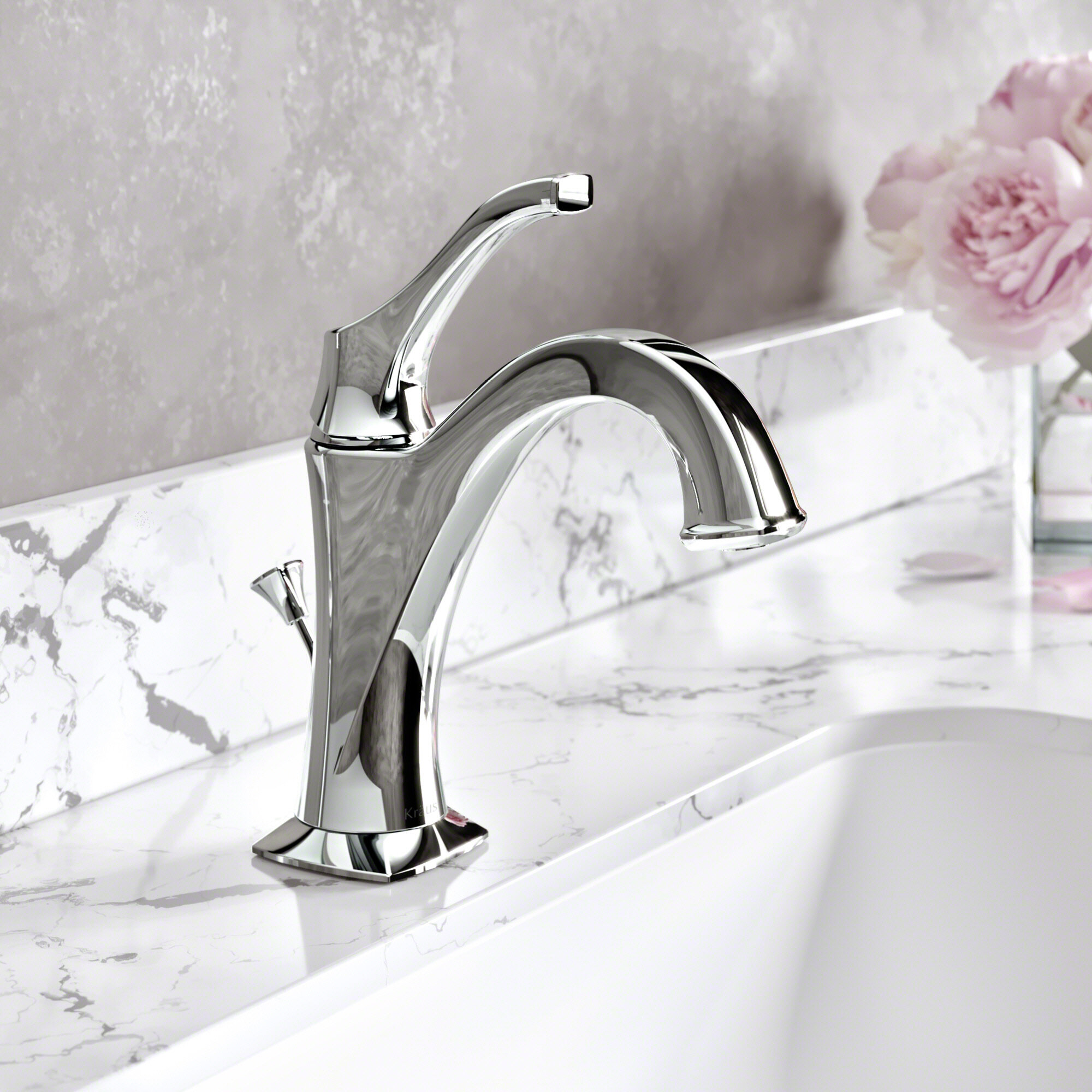 Red Barrel Studio Giancarlo Single Hole Bathroom Faucet with Drain ...