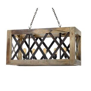 Wood pendant lights youll love wayfair manseau 5 light kitchen island pendant aloadofball Gallery