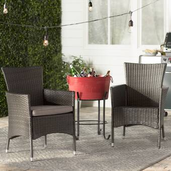 CO9 Design Addison Patio Dining Chair with Cushion | Wayfair