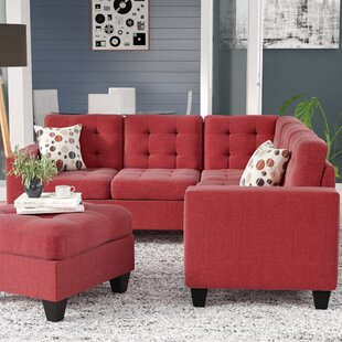 Left Facing Red Sectional Sofas Youll Love Wayfair