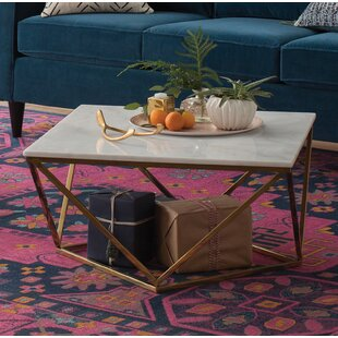 Rose Gold Marble Coffee Table Wayfair - Geometric marble coffee table