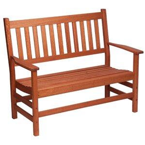Red Grandis Wood Garden Bench