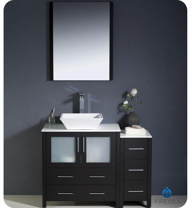"Modern Bathroom Vanity Sets fresca torino 42"" single modern bathroom vanity set with mirror"