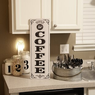 Vertical Coffee Lettering Wall Décor