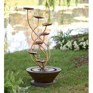 Resin Bronze Leaf Fountain