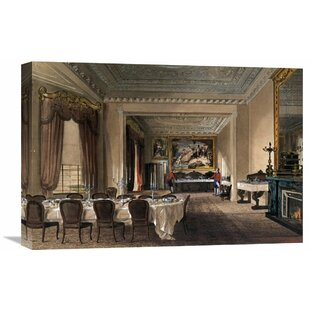 U0027The Dining Room, Osborne Houseu0027 By James Roberts Painting Print On Wrapped  Canvas