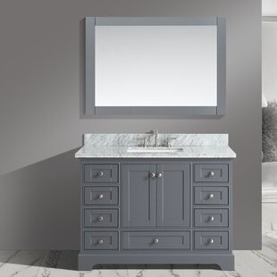 Inch Bathroom Vanities Youll Love Wayfair - 48 inch grey bathroom vanity