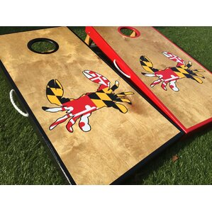 maryland crab cornhole board set with matching toss bags - Corn Hole Sets