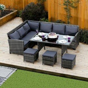 rattan furniture covers. 8 Seater Rattan Effect Sofa Set With Cushions Rattan Furniture Covers C