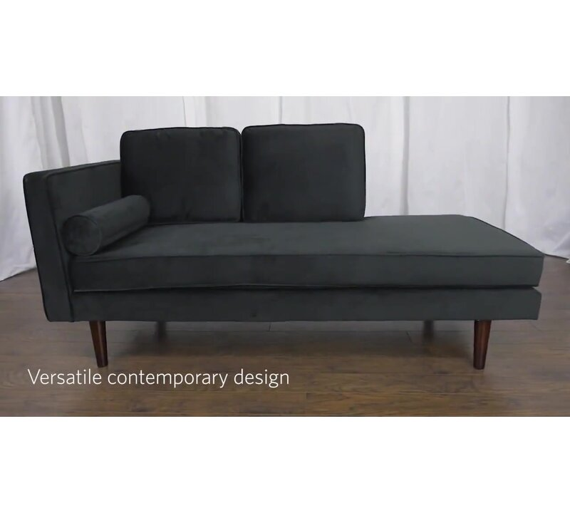 George Oliver Jabari Mid Century Modern Upholstered Daybed