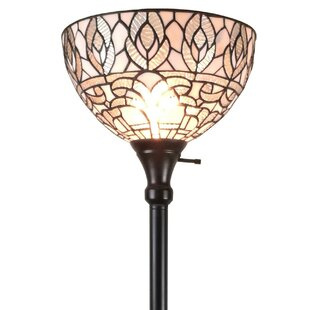 Tiffany style floor lamps wayfair tiffany style 72 torchiere floor lamp aloadofball Choice Image