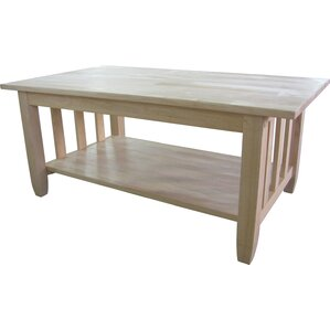 Unfinished Wood Mission Coffee Table b..
