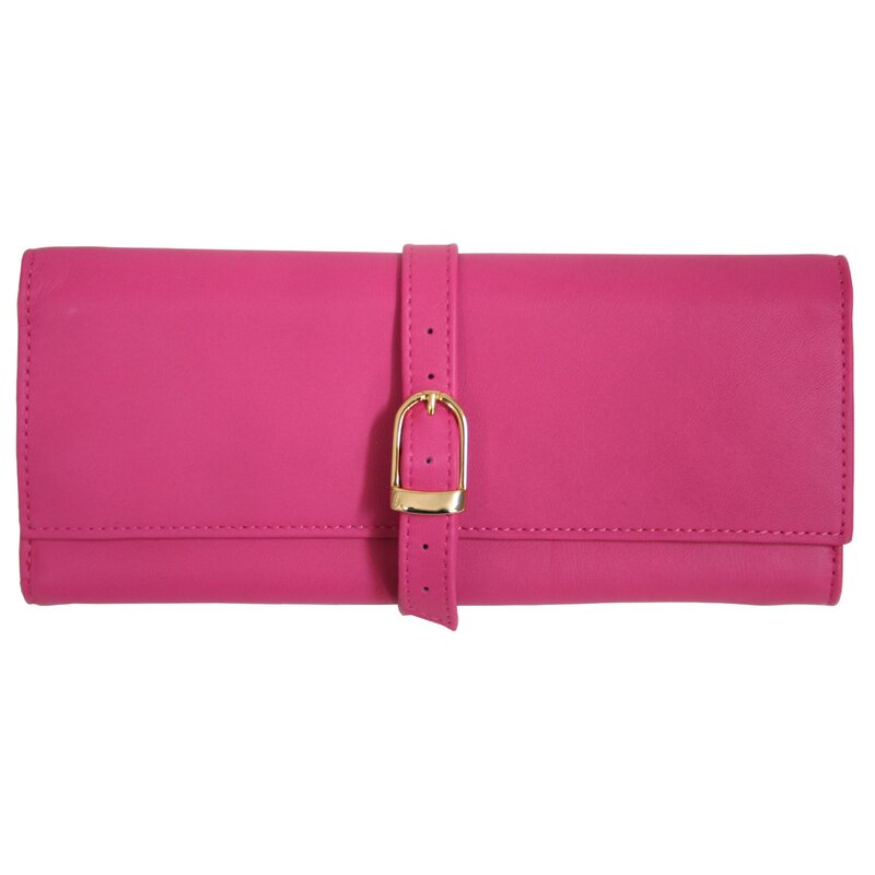 Royce Leather Royce Leather Suede Lined Jewelry Roll Travel Case in ...
