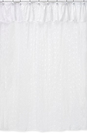 Eyelet Cotton Single Shower Curtain