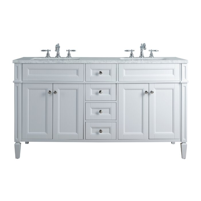 Mauricio French 60 Double Bathroom Vanity Set